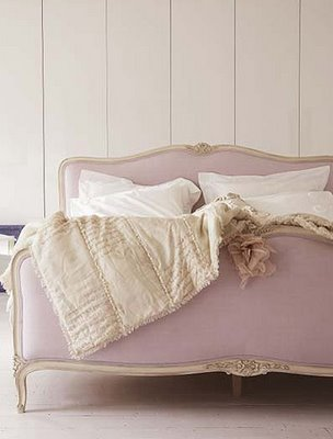 purple bed from living etc.