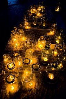 light in mason jars