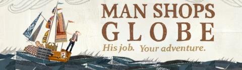 man shops globe